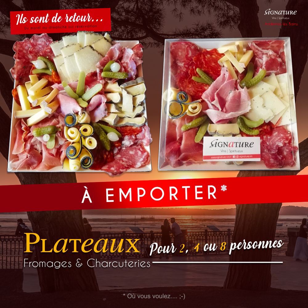 plateau à emporter charcuterie fromage andernos